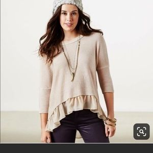 American Eagle ruffle sweater.